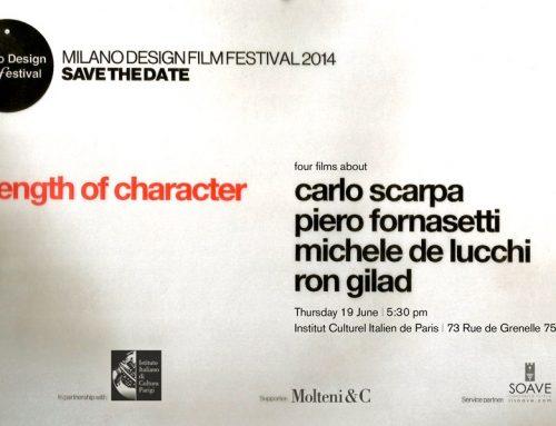 MILANO DESIGN FILM FESTIVAL: THE PREVIEW in PARIS